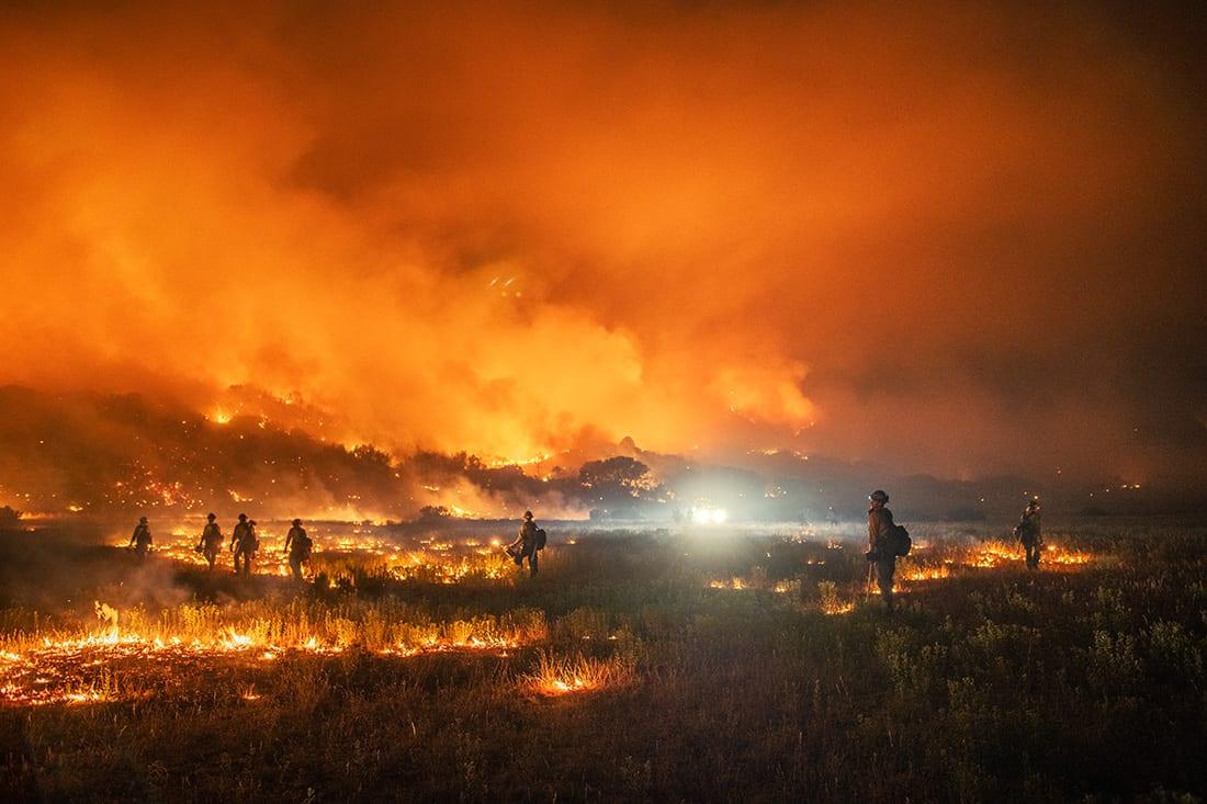 Wildlands firefighters set