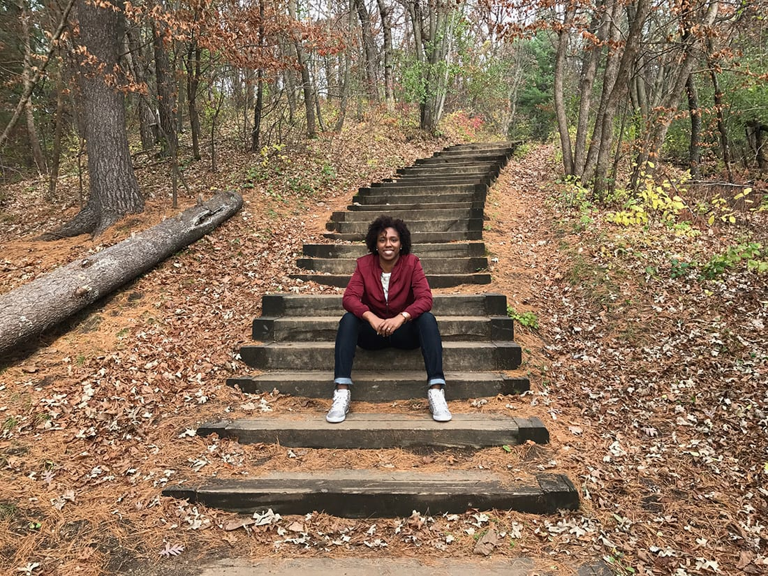 Eboni Hall spends her days split between research, increasing urban forestry education at institutions, assisting youth in navigating their urban forestry career path and mentoring students, all while working to achieve Tree Equity